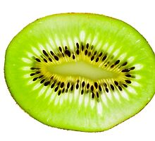 Kiwi fruit slice by Johan Larson