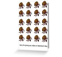 """Crabs"" Valentine Greeting Card"