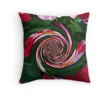 Tricolor Beauty In Polar Inversion Twist Throw Pillow