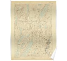 Maine USGS Historical Map Augusta 306447 1892 62500 Poster