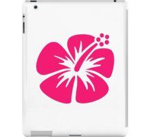 Pink hibiscus iPad Case/Skin