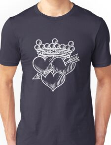 Three Hearts Crown &  Dagger Unisex T-Shirt