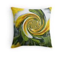 Sunflower Polar Inversion Twist Throw Pillow