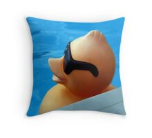 I WEAR MY SUNGLASSES...CUTE DUCK BEACH PILLOW AND OR TOTE BAG Throw Pillow