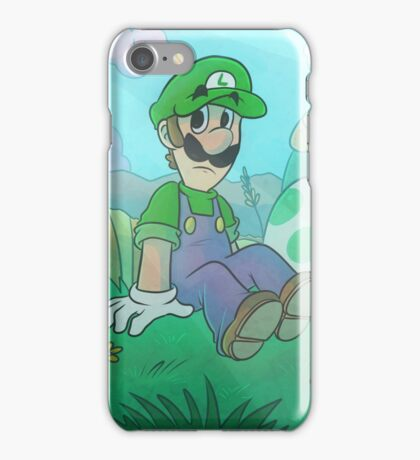 Luigi with a Yoshi Egg iPhone Case/Skin