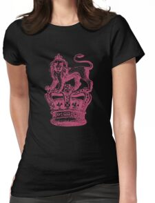 Lion & Crown Heraldry Blazon Womens Fitted T-Shirt