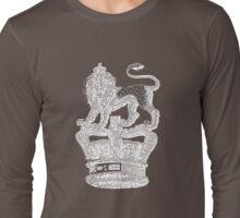 Lion & Crown Heraldry Blazon Long Sleeve T-Shirt