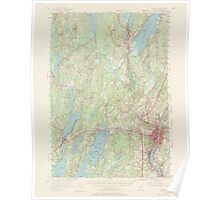 Maine USGS Historical Map Augusta 306448 1956 62500 Poster