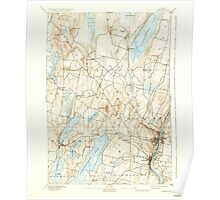 Maine USGS Historical Map Augusta 460128 1892 62500 Poster