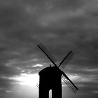 Winter Sunset Windmill by Mark Mitrofaniuk