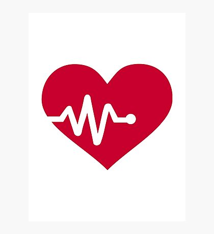 Red heart frequency Photographic Print