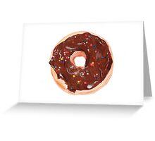 Chocolate donut Greeting Card