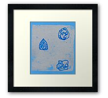 small masks and sheep Framed Print