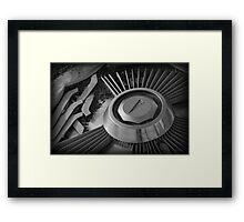 Hub Cap Framed Print