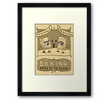 Old Timey Boxing Games Framed Print