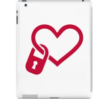 Red heart lock iPad Case/Skin