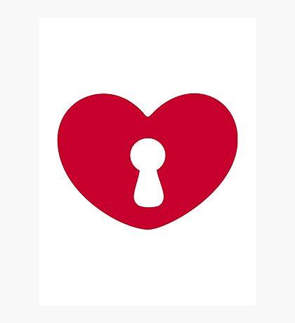 Heart lock Photographic Print