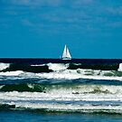 Sail Boat on the Ocean by ValeriesGallery