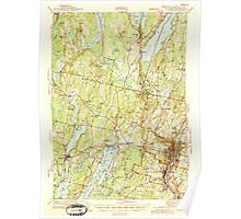 Maine USGS Historical Map Augusta 460131 1943 62500 Poster