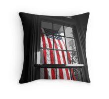 American Window  Throw Pillow