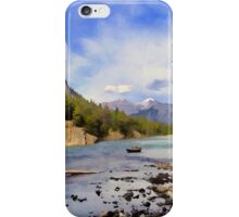 Bow River Row Boat iPhone Case/Skin