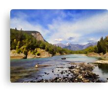 Bow River Row Boat Canvas Print