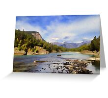 Bow River Row Boat Greeting Card