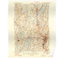 Maine USGS Historical Map Augusta 460132 1943 62500 Poster
