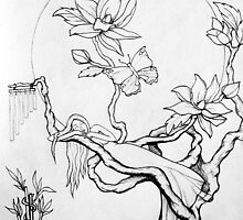 Moon Goddess-concept  ~ 5046 views~ by Magicat