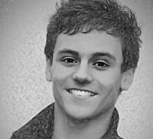 Drawing - Tom Daley handsome smile by Michael Taggart