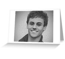 Drawing - Tom Daley handsome smile Greeting Card