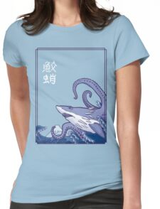 Sharktopus and the Great Wave Womens Fitted T-Shirt