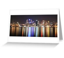 Sydney Harbour City Skyline Greeting Card