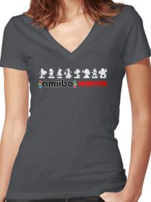 The Amiibo Hunter Shirt #2 Women's Fitted V-Neck T-Shirt