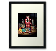 Vintage Robot & Friends Framed Print
