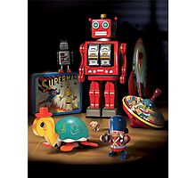 Vintage Robot & Friends Photographic Print