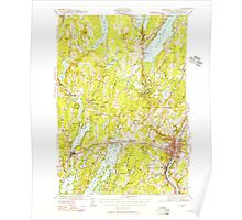 Maine USGS Historical Map Augusta 460133 1941 62500 Poster