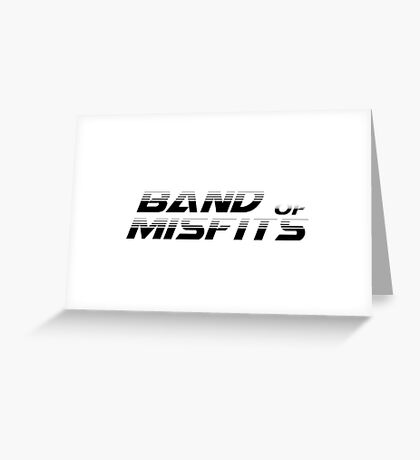 Band of Misfits White Logo Greeting Card