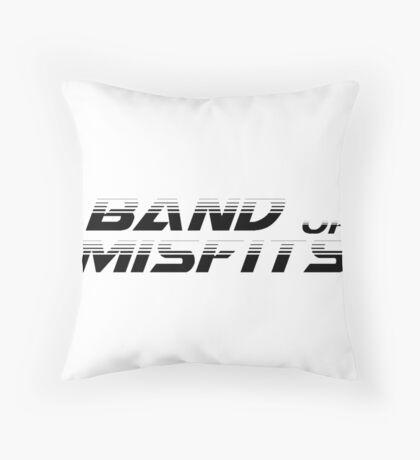 Band of Misfits White Logo Throw Pillow