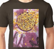 yellow leaves on the sidewalk Unisex T-Shirt