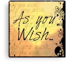 As you wish-yellow Canvas Print