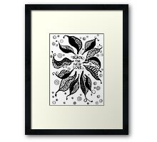 BLACK the new LOVE * Framed Print