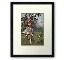 Little Girl At Play-Available As Art Prints-Mugs,Cases,Duvets,T Shirts,Stickers,etc Framed Print
