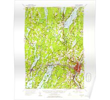 Maine USGS Historical Map Augusta 460134 1956 62500 Poster