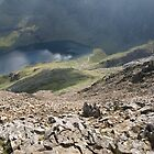 Crib Goch - Looking at the Pyg Track by Mark Durant
