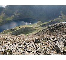 Crib Goch - Looking at the Pyg Track Photographic Print