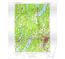 Maine USGS Historical Map Augusta 460135 1956 62500 Poster