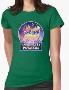 I'm a Pretty Pugasus  Womens Fitted T-Shirt