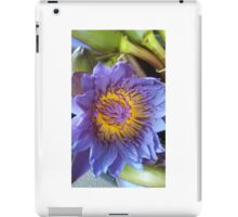 Magical blue lotus with yellow centre iPad Case/Skin