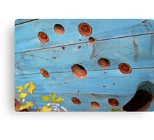 Painted Wire Spool, Discarded Canvas Print